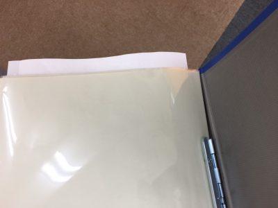 クリアブック、上から紙を入れるタイプ