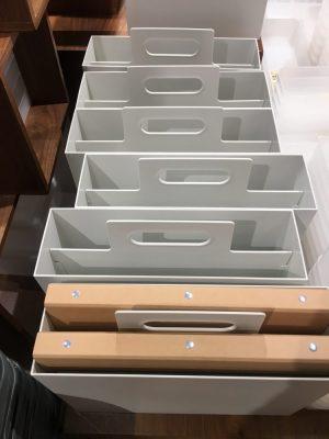 無印の手提げのように使える取っ手付き収納ボックスの上からの画像