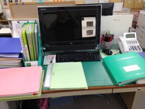 机の整理収納